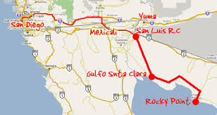 directions from s calif yuma golf rocky point