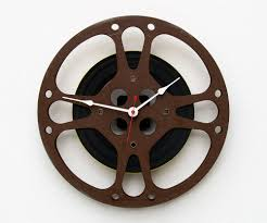 unique wall clock 16 mm film reel wall clock movie lover clock