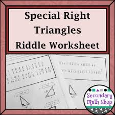 right triangles geometry special right triangles practice riddle