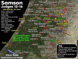 Biblical Maps Judges 16 Book Of Judges
