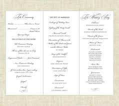 wedding programs printable wedding ideas tri fold printable wedding program via etsy
