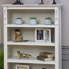 cream rustic bookcase with drawer lyon range melody maison