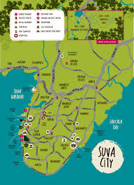 map of suva city large suva maps for free and print high resolution and