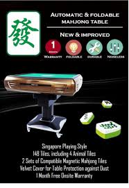 Mahjong Table Automatic by Buy Automatic Foldable Mahjong Table Singapore Playing Style