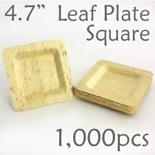 bamboo disposable plates bamboo leaf square plate 4 7 1000 pc plates bamboo leaf