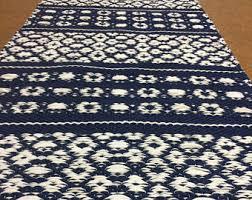 Shabby Chic Kitchen Rugs Blue White Rug Etsy