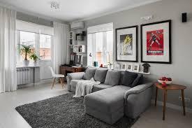 salon canapé gris design interieur ameublement salon canapé gris tapis murs gris