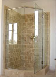 bathroom shower tub ideas simple square glass sliding doors