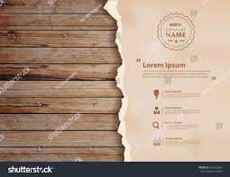 wood wall design grunge paper on wooden wall vector stock vector 400432630