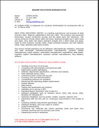 Senior System Administrator Resume Sample System Administrator Resume Format For Fresher Resume Ideas