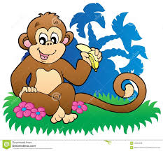 monkey eating banana clipart clipartxtras