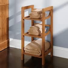 Towel Shelves For Bathroom Three Tier Bamboo Towel Shelf Bathroom