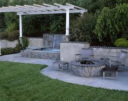 Deck Firepit Home Design Deck Designs With Tub And Pit Bar Living