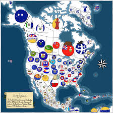 Map Of Nirth America by A Map Of North America Stateball