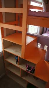 Bunk Bed Stairs With Drawers Bedding White Simple Bunk Bed With A Twist And Cubby
