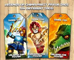 legends of chima party favor tags download by instbirthday on zibbet