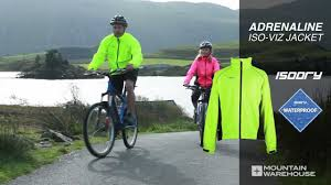 mens hi vis waterproof cycling jacket adrenaline hi viz jacket for cyclists and runners youtube