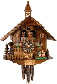 hones chalet style one day musical cuckoo clock with moving