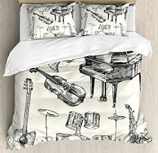 music themed queen comforter music bedding white bed