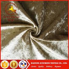 Crushed Velvet Fabric Upholstery Polyester Shiny Ice Crushed Velvet Fabric For Sofa Curtain Upholstery