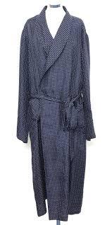 dressing gown silk dressing gown polka dot navy beckford silk