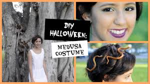 medusa hair costume diy halloween medusa costume hair makeup youtube