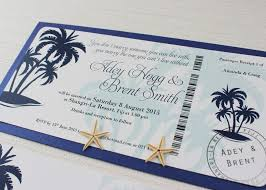 Boarding Pass Wedding Invitations Tropical Paradise Navy Boarding Pass Wedding Invitation Be My Guest
