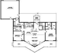 the clark fork floor plan avalon log homes house floor plans - Ranch Log Home Floor Plans