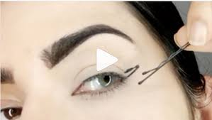 What To Use For Eyebrows How To Use A Bobby Pin To Create Winged Liner Allure