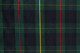 tartan plaid fabric green navy yellow the fabric mill