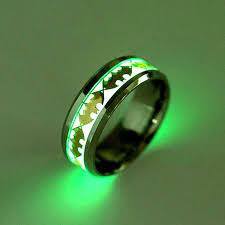 men rings 2017 retro luminous men ring stainless steel batman men s rings