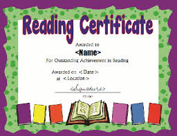 printable reading award certificate in pdf and doc formats free