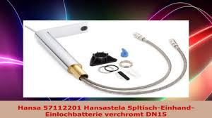 hansa 57112201 hansastela spltischeinhandeinlochbatterie verchromt