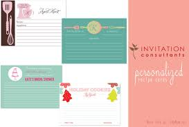 personalized cards personalized recipe cards