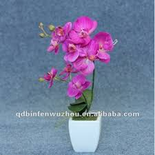 Blue Orchid Flower Artificial Natural Blue Orchid Flowers Stems Artificial Potted