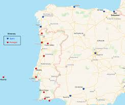 Azores Map Portugal And Spain For The Spring Retired And Travelling