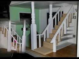 how to make a doll house stair railing youtube
