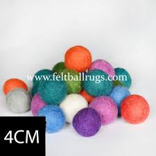 bulk handmade 4cm felt balls felt rugs