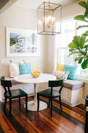 Breakfast Table Ideas Geometric Shaped Breakfast Table With Window Seats Or Chairs Ideas