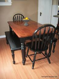 stained table top painted legs kitchen kitchen table painted with dixiebellepaint and