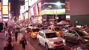 new york ny november 26 taxi vehicles in downtown times square