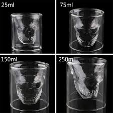 halloween gift magic cool clear skull head shot glass creative party wine cup