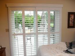 Window Blinds Patio Doors Wide Stainless Steel Frame Sliding Patio Door With Glass Panel And