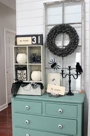 Grey Entryway Table by October 2016 Delightfully Noted