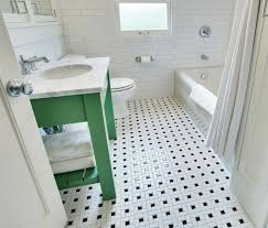 vintage black and white bathroom floor design ideas