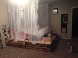 diy pallet bed u0026 canopy apartment pinterest diy pallet bed