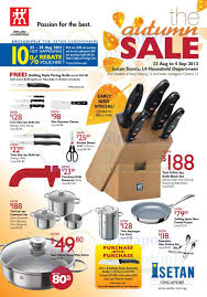 isetan zwilling j a henckels u0026 bodum kitchenware offers 23 aug