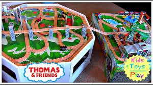 thomas the train wooden track table thomas the train wooden railway double play table playtime
