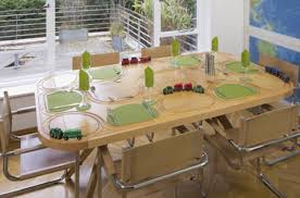 Dining Table With Food The Dining Table That Doubles Up As A Track Does That