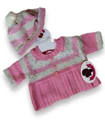 teddy clothes clothes pink knitted dress hat